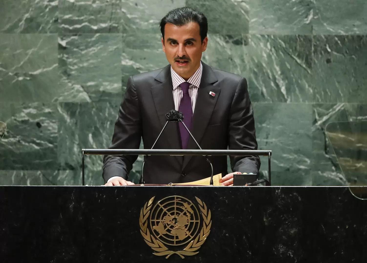Participación de SA El Emir de Qatar en la sesión de apertura del Debate General del 76 ° período de sesiones de la Asamblea General de las Naciones Unidas