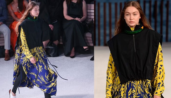 Gigi Hadid se roba el espectáculo con su andar con maxi vestido en la Semana de la Moda de Nueva York