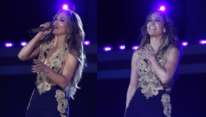Jennifer López luce glamorosa mientras se presenta en Global Citizen Live 2021