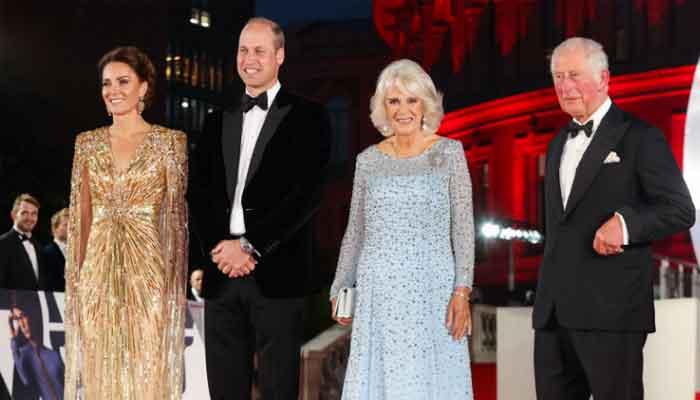El príncipe William y Kate Middleton asisten al estreno de 'No Time To Die'