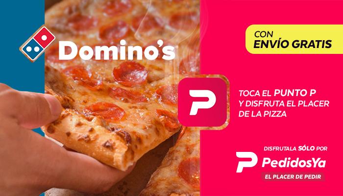 Las pizzas de Domino's ahora se piden por PedidosYa