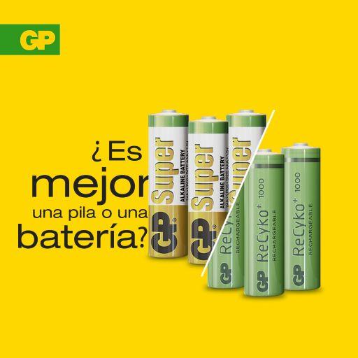BATERÍAS Y PILAS DE GP BATTERIES