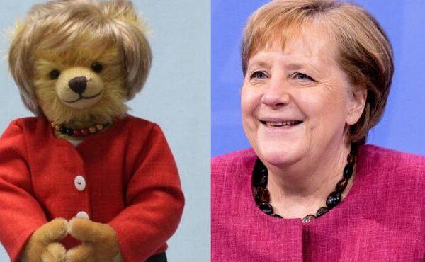 Lanzan una edición limitada de osos de peluche en honor a Angela Merkel