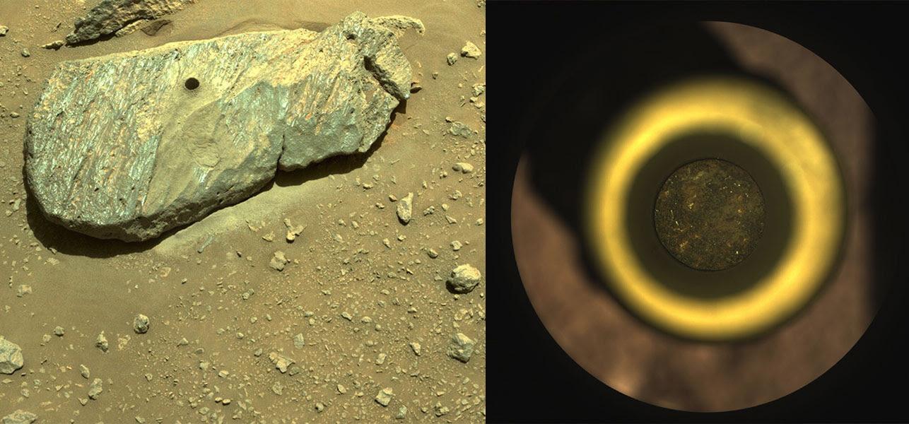 Perseverance Rover de la NASA captura la primera muestra de Marte
