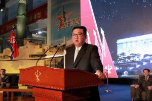 Estimado compañero Kim Jong Un pronuncia discurso en Exhibición de Desarrollo de Defensa Nacional