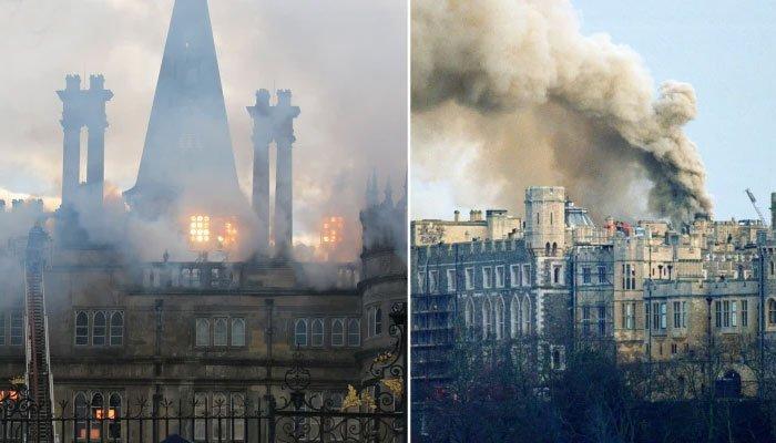 «The Crown»: nuevas fotos muestran un incendio devastador que arrasó el castillo de Windsor en 1992