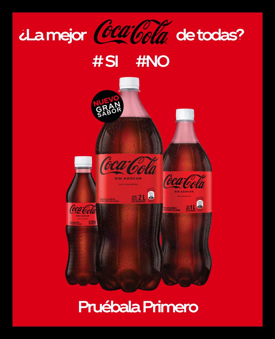 Coca-Cola presenta su nueva receta de Coca-Cola Sin Azúcar
