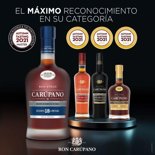 Ron Carúpano alcanza el máximo reconocimiento en su categoría durante la competencia de DB & SB Autumn Blind Tasting 2021