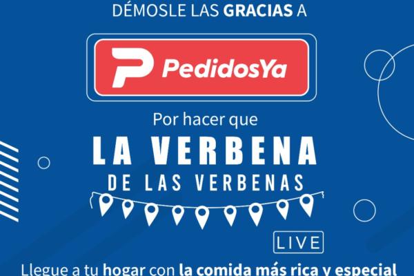 PedidosYa será el delivery oficial de la verbena del Colegio San Ignacio